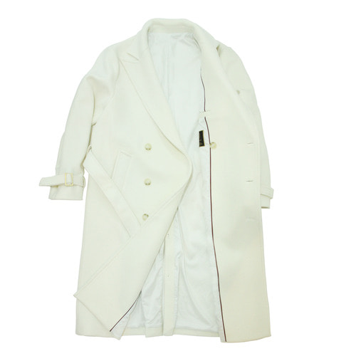 Wool Trench Coat / Cream