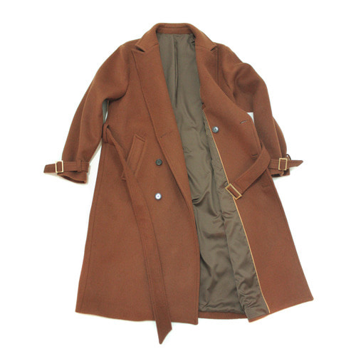 Wool Trench Coat / Brown