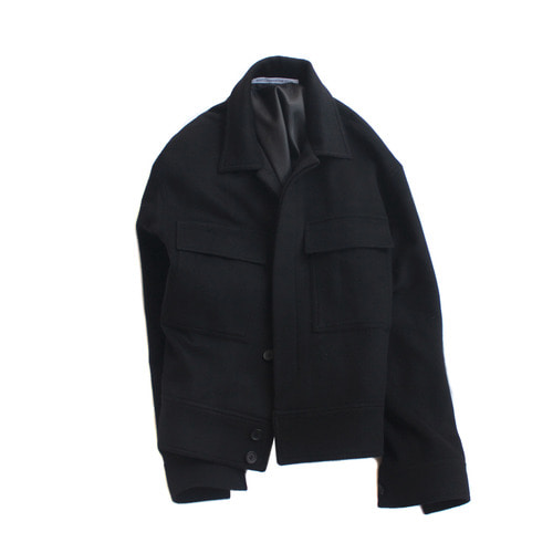 hidden wool jacket / black