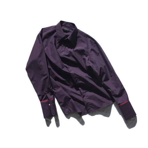 long cuffs shirt(unisex) / purple