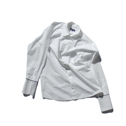 long cuffs shirt(Unisex) / White